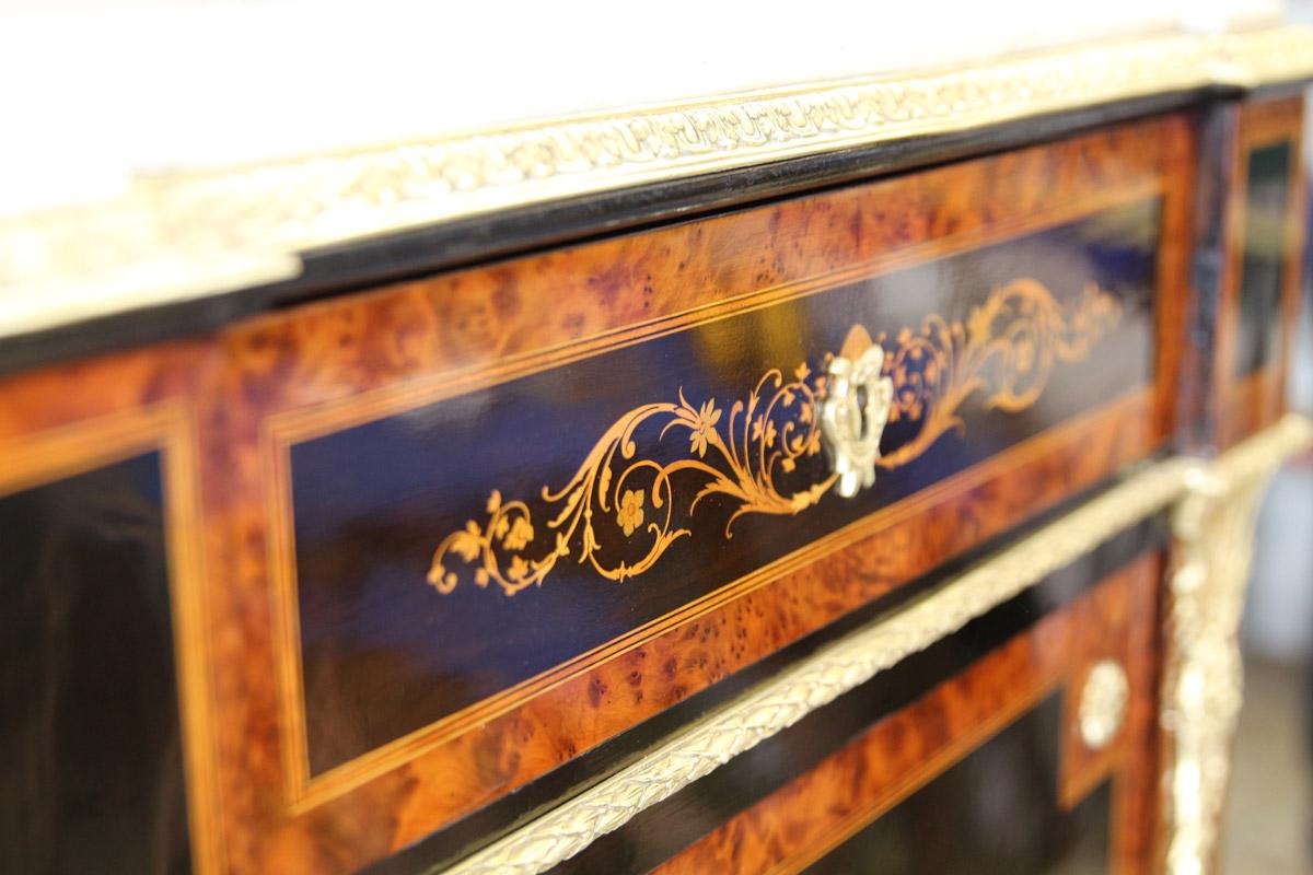 Secrétaire napoléon 3, riche marqueterie